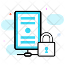 Secured Backup Data Protection Secure Server Icon