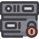 Lock Secure Server Secure Database Icon