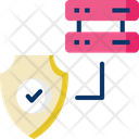 Database Server Secure Server Data Security Icon