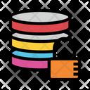 Server Lock Database Icon
