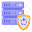 Secure Server Backup Data Server Security Database Protection Icon