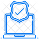 Secure Shield Antivirus Cyber Security Icon