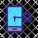 Smartphone Key Safe Icon
