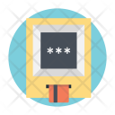 Secure Transactions Atm Icon
