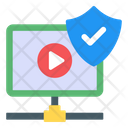 Safe Video Secure Video Video Protection Icon