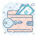 Secure Wallet Secure Billfold Money Protection Icon