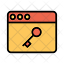 Internet Key Lock Icon
