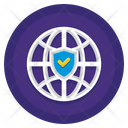 Secure Web Global Network Icon