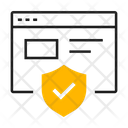Protected Secure Web Browser Icon