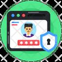 Web Account Secure Web Account Secure Web Profile Icon