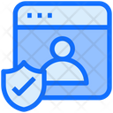 Secure Web User Secure Web Icon