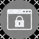 Lock Websit Webpage Icon