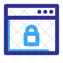 Lock Page Web Icon