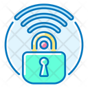 Secure Wireless Lock Wi Fi Icon