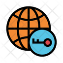 World Key Lock Icon