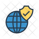World Security Shield Icon