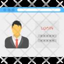 Password Protected Account Icon