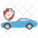 Secured Car Protected Car Vehicle Security Icon
