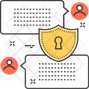 Secured Messaging Chatting Icon