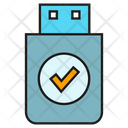 Thumb Drive Memory Security Icon