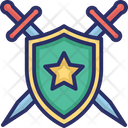 Security Emblem Sword Icon