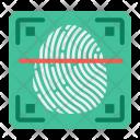 Security Fingerprint Scanner Icon
