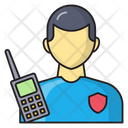 Security Officer Talkie Icon