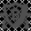 Security Bitcoin Shield Bitcoin Security Icon
