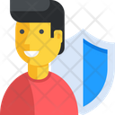 Man Security Privacy Icon