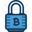 Lock Bitcoin Security Icon