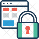 Security Wireframe Web Icon