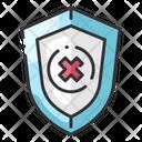 Shield Firewall Security Breach Icon
