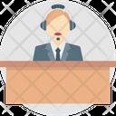 Customer Representative Cop Helpline Security Center Icon