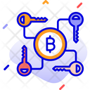 Security Cryptocurrency Transaction Keys Security Icon