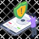 Phone Safety Error Security Error Cybersecurity Icon