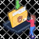 Folder Protection Security Folder Download Download Safe Data Icon