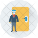 Security Guard Door Icon