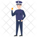Security Man Watchkeeper Security Guard Icon