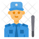 Security Man Avatar Occupation Icon