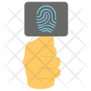 Security Verification Thumb Passcode Thumb Scanner Icon