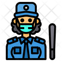 Security Woman Guard Occupation Icon
