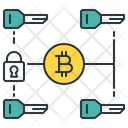Secutiry Keys Bitcoin Multi Icon