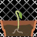 Seeding Earthen Flowerpot Icon