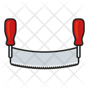 Seesaw Saw Two Handed Saw Icon