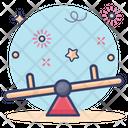 Seesaw Balance Swing Teeterboard Icon