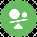 Seesaw Balance Business Icon