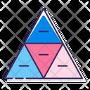 Segmented Pyramid Pyramid Analysis Icon