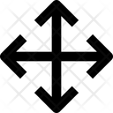 Arrow Cross Four Head Icon