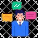 Verified Employee Selected Employee Approve Employee Icon