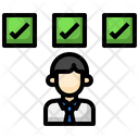 Selected Employee Selected Worker Checklist Icon